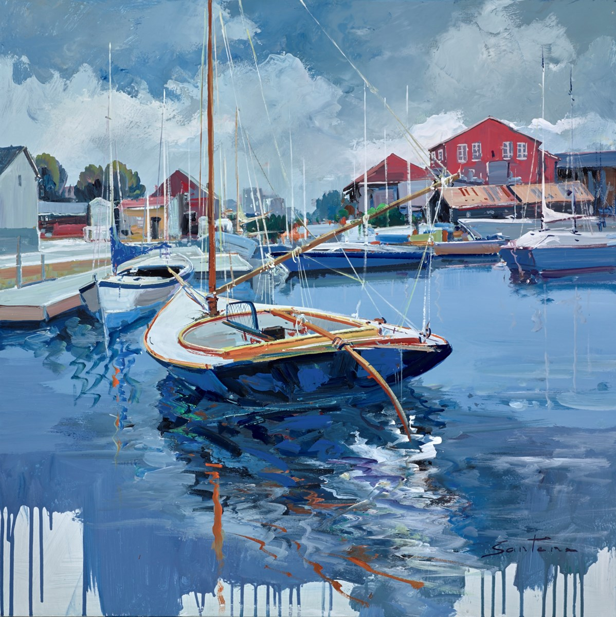 Waiting for the Tide II by santana -  sized 32x32 inches. Available from Whitewall Galleries